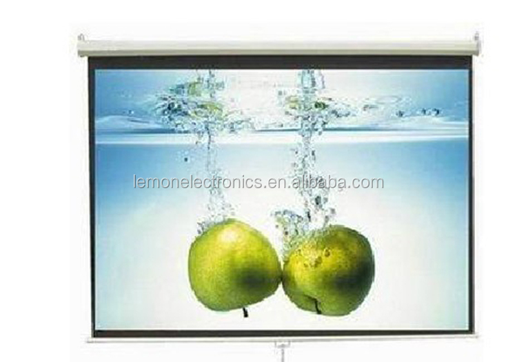 Manual Wall Mounted Projector Screen/Projection screen factory in Shenzhen
