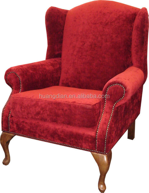 wholesale high quality hotel furniture cheap price red fabric bedroom sofa chair lounge chair