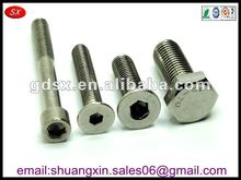 Dongguan small stainless steel hex head bolt,hex scoket cap screw