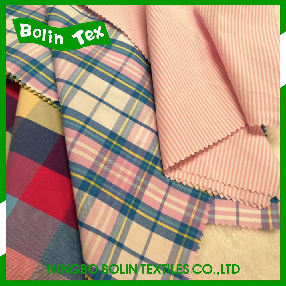 Bolin Tex 100% Cotton Yarn Dyed Check And Stripe Fabric
