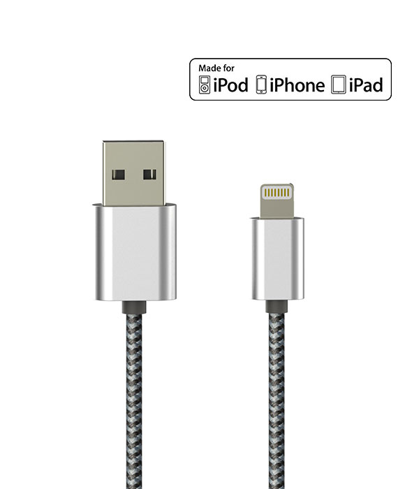 Mobile phone accessories Aluminum Light ning Connector usb a cables for iphone 5 6 7 plus