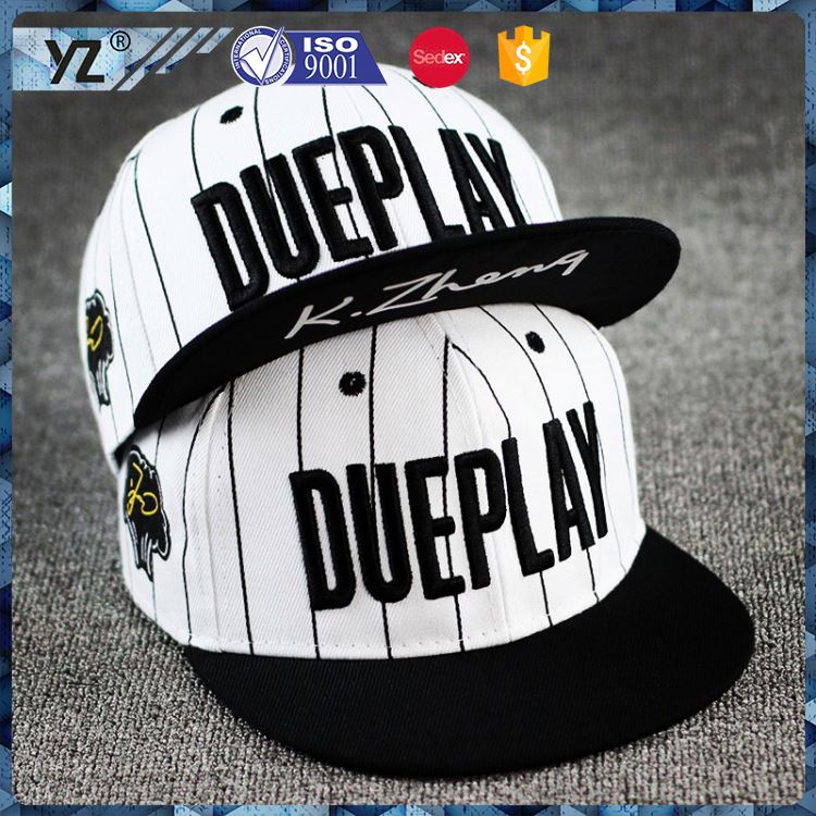 Factory supply OEM design funny face embroidery snapback hat with good price