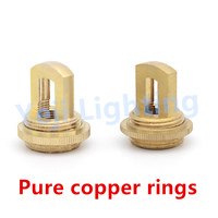 Pure copper rings M12 thread brass hook M10 nut rustproof for ceiling rose lamp base chandelier retro lighting accessories DIY