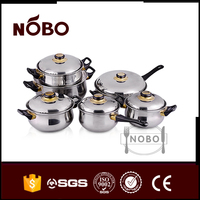 High Quality 201 Steel Lid Stainless Steel Nonstick Induction Cookware Sets