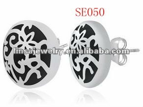 fashion casting men's 316L stainless steel earring