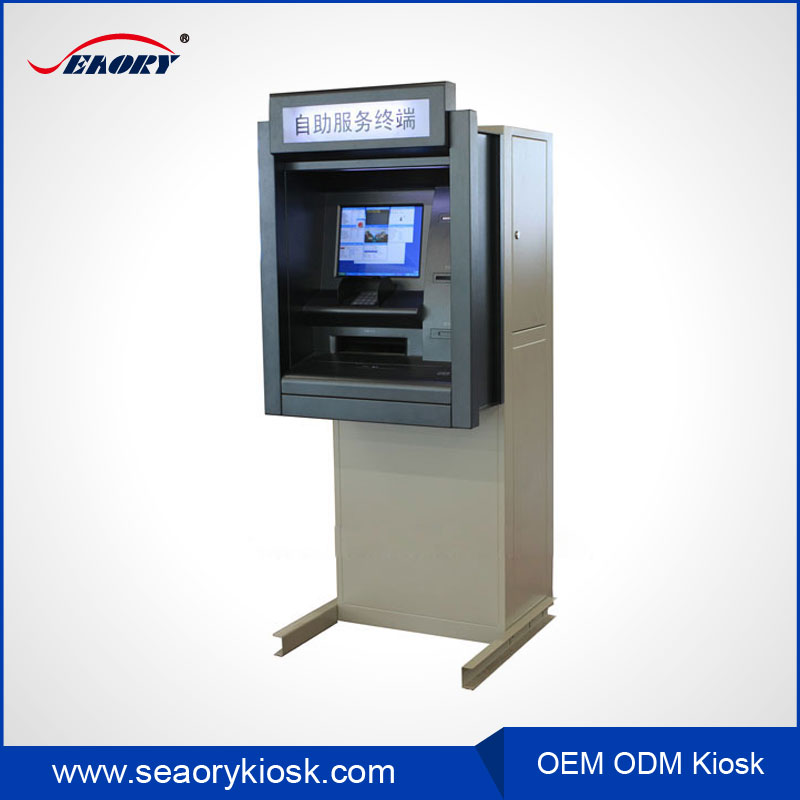 atm payment booth,free standing self service kiosk