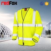 wholesale waterproof high visibility safety two tone hunting fleece jacket