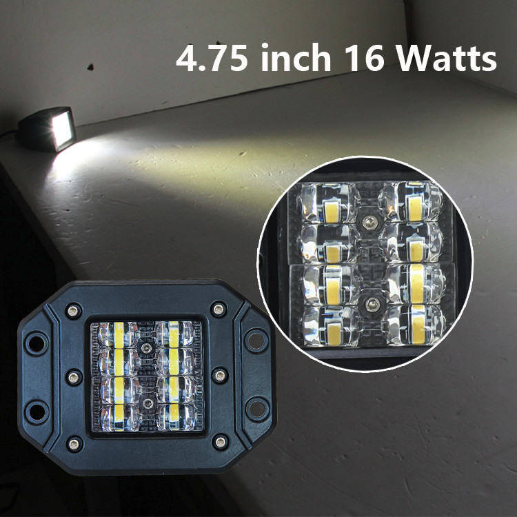 Front Bumper Light LED Light Bar 4 inch Flush Mount ATV Motorcycles LED Work Light