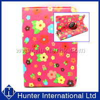 Printed Flower 360 Degree Tablet Case For iPad Mini