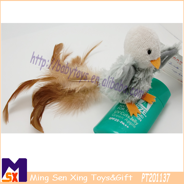 Hot sale plush pet bird toys for cat