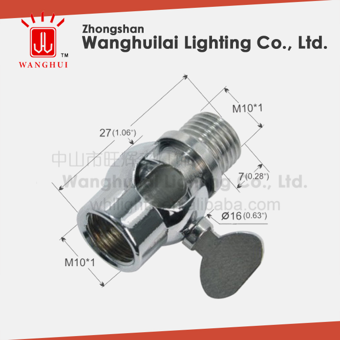 brass iron universal swivel joint for lamp