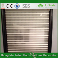 Ready made Triple roller curtain/shangrila sheer roller shade