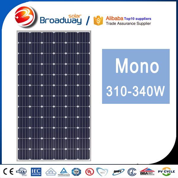 2016 A grade high quality most popular highest efficiency 300w 310w 320w monocrystalline solar panels