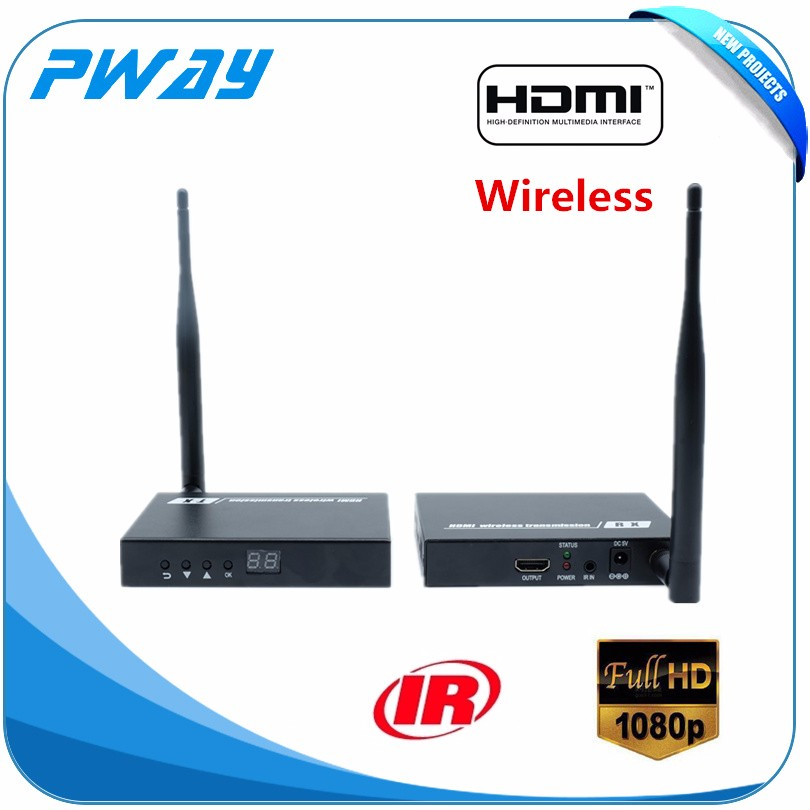 new design and high quality Pinwei PW-DT211W Wireless HDMI HDbitT Transmitter & Reciver Kit (50m) with IR and HDMI looping out