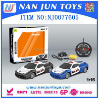 wholesale 1:16 4ch rc police toy car for kids