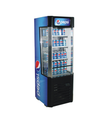 63L 132L Commercial Can Beverage Glass Door Countertop Open Air Display Cooler Refrigerator For Pepsi
