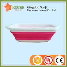 Fruit and vegetable used PP square plastic collapsible basket with new design