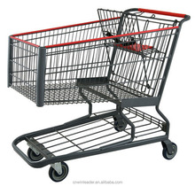 Supermarket Wholesale unfolding Shopping Cart with Seat