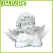 Wholesale customize religious decorative resin angel and devil sculpture