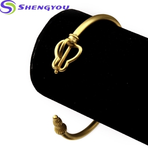 Simple Design Hiphop Jewelry Gold And Sliver Colors Cuff Bangle Bracelet Wholesale