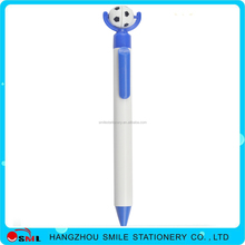 Custom logo side jump plastic ball pen colorful pens with football
