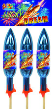 On sale Lucky Dream rocket fireworks bottle rocket fireworks for sale