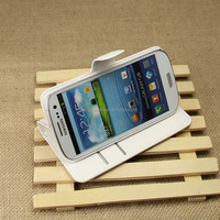 Wholesale Folio Stand Case for Samsung GALAXY s3 i9300 PU Leather Flip Cover with Wallet