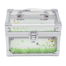 Aluminum fashion transparent beauty box acrylic eyelash vanity case