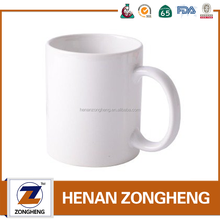 Popular 11 oz blank orca coatings white ceramic coffee mug cup for sublimation