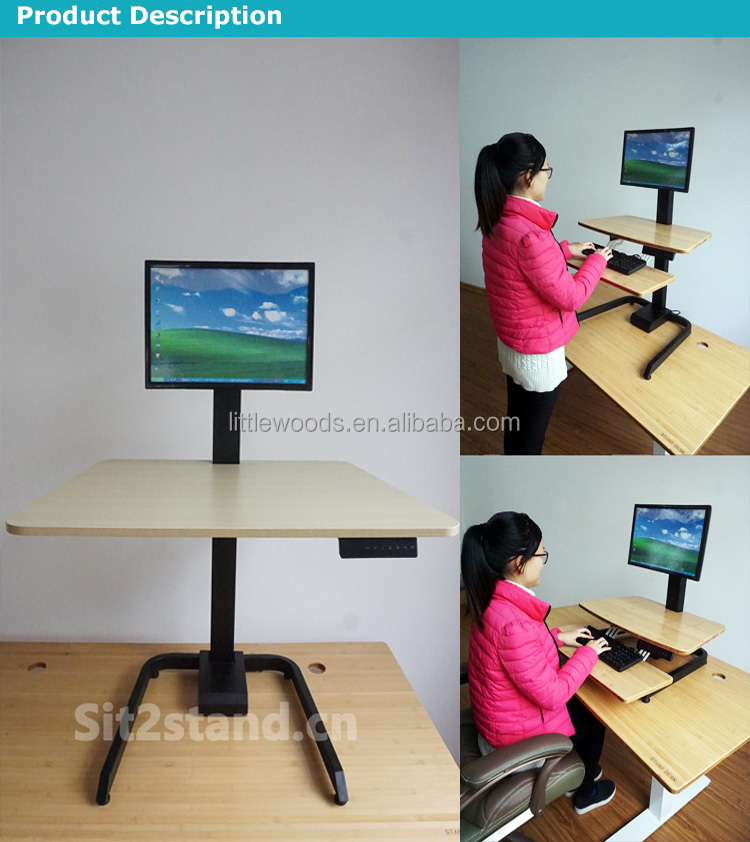 electric office height adjustable Desk Converter