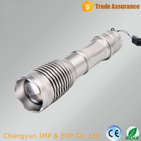 tactical led torch long range 5 modes waterproof 800lumen XML T6 18650 rechargeable battery zoomable led flashlight