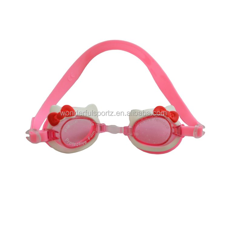 Safety custom strap logo soft silicone rubber kid swim goggles