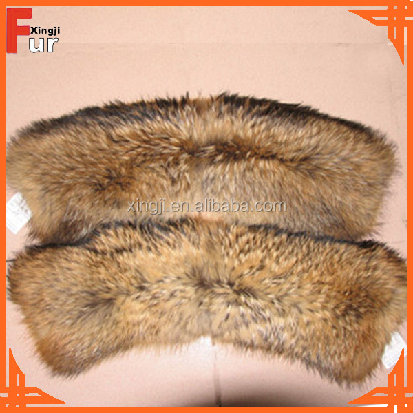 Raccoon Fur Collar Real Fur