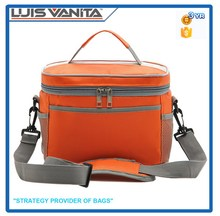 Top Quality Food Packing Orange Cooler Bag Insulated