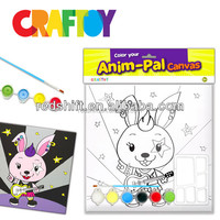 Canvas Board Animal Pal Rabbit Teaching material coloring toy painting craft