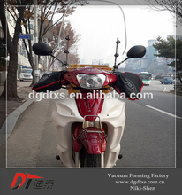 OEM red motorcycle cover and windshield by vacuum forming
