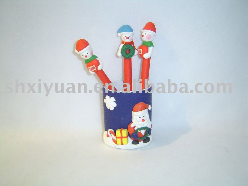 Christmas gift clay pen(XY002)