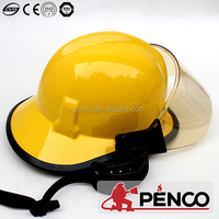 Composited teflon america style fire fighting helmet