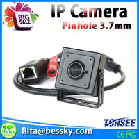 1080P invisible IP Camera mini pinhole front 2mp camera phone with POE Function