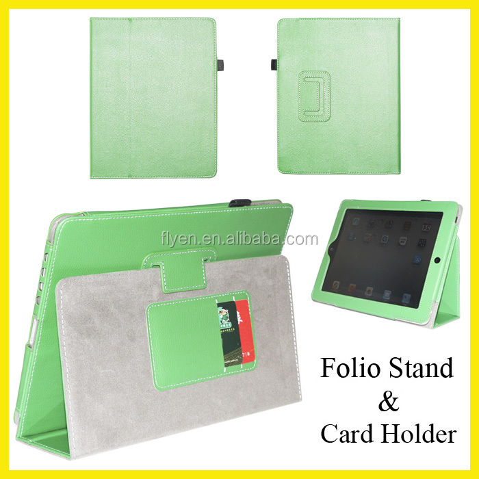 for ipad air 2 Leather Case for ipad mini Leather Case Stand with Credit Card Slot and Stylus pen Holder New Hot Manufacturer