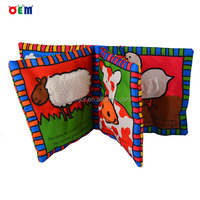 OEM factory colorized baby cloth book for infant educational toys