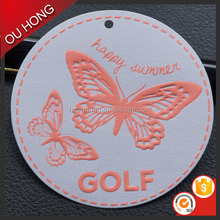 Fashion Wholesale Custom Design Durable Garment Art Paper Printed Hang Tag