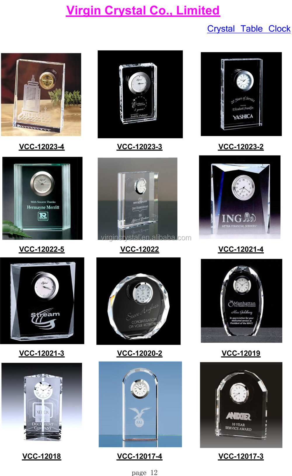 Wholesale promotion diamond shape crystal table clock as office home decoration gift