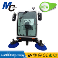 MC RS1800B huge tank ride on vacuum street sweeper/road cleaning truck/electric wet floor cleaner