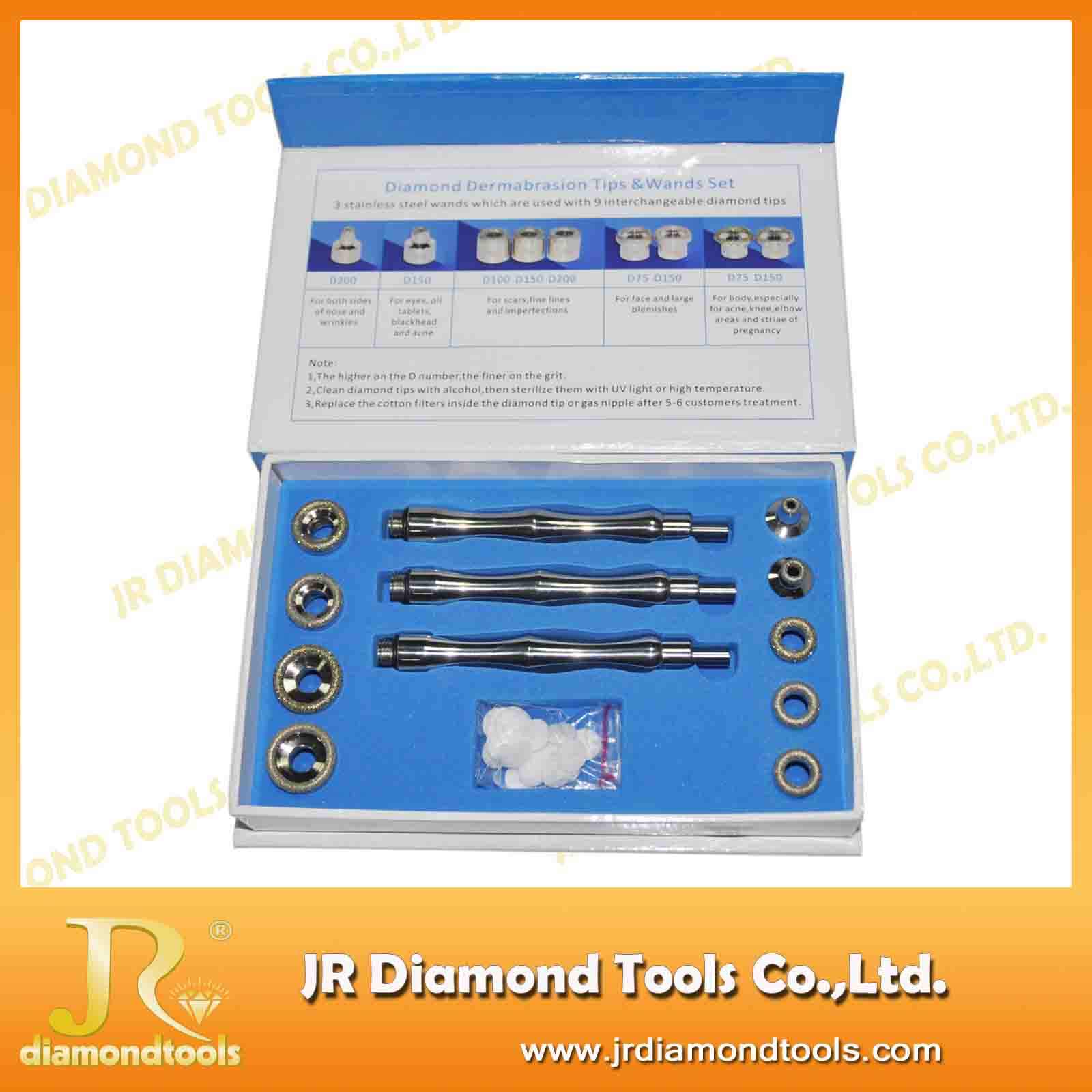 aluminum oxide crystal diamond 9 tip microdermabrasion portable
