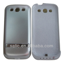 ABS maerial white color 4000mah battery charger case for samsung galaxy s3