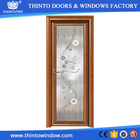 Factory made interior frosted glass aluminium bathroom doors