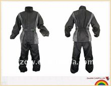 Black and gray motorcycle mens suit