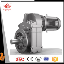 F Serial parallel shaft helical electric motor 12v dc motor with gear reduction