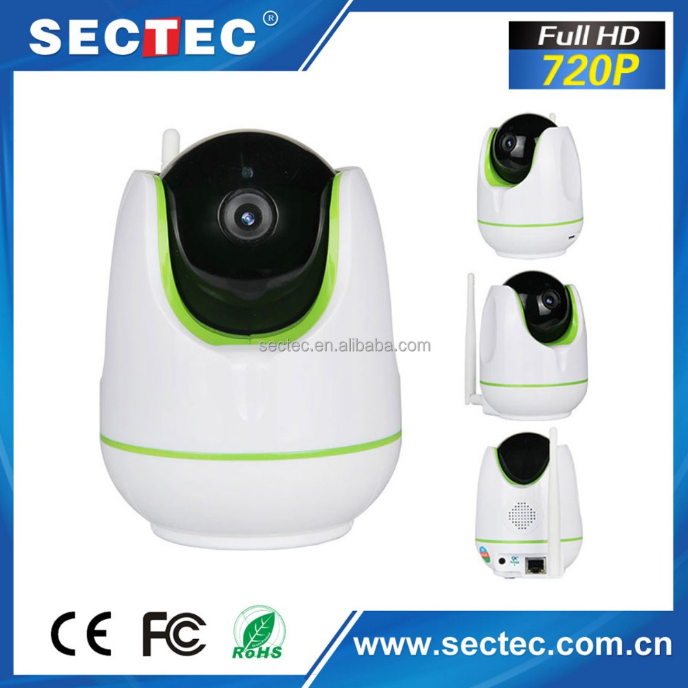SECTEC Hot-selling Kids Smart Home Products H.264 Wireless IP Home Security 720P IP Camera With Audio